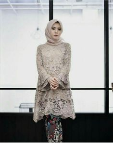 Kebaya Modern Hijab, Kebaya Hijab, Kebaya Muslim, Muslim Dress, Model Kebaya Brokat Modern, Kebaya Lace, Kebaya Dress, Hijab Dress Party, Hijab Style Dress