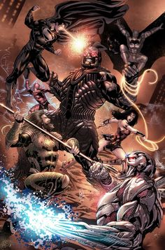 Aquaman, Batman Vs Darkseid, Batman Comic Art, Marvel Dc Comics, Batman Batman, Comic Book Artists, Comic Books Art, Zack Snyder Justice League, Otaku