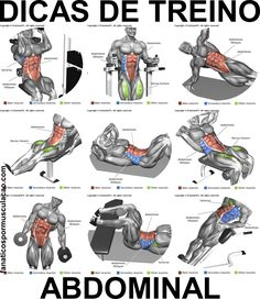 Dicas de treino - Abdominal - Ferco Construction and Remodeling - - Fitness Work Shoulder Workout Routine, Best Chest Workout, Chest Workouts, Fun Workouts, Biceps Training, Weight Training Workouts, Back Weight Exercises, Big Biceps Workout, Workout Bauch