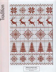 Christmas Cross, Christmas Holidays, Crochet Christmas, Cross Stitch Borders, Cross Stitch Patterns, Loom Patterns, Crochet Patterns, Kids Stockings, Cross Stitch Stocking
