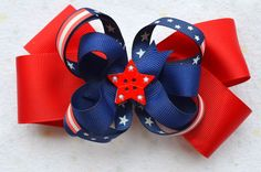 Red, White and Blue Boutique Hairbow