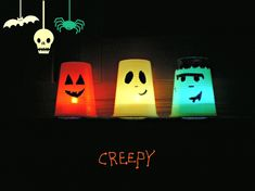 Tutorial Halloween Lamp  http://www.unadonna.it/halloween/lanterne-di-halloween-con-materiale-riciclato/46759/