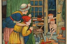 The Elves and The Shoemaker by The Brothers Grimm Childrens Christmas, Christmas Art, Grimm Stories, Fairy Tale Projects, Brothers Grimm, Let's Pretend, Children's Book Illustration, Book Illustrations, The Elf