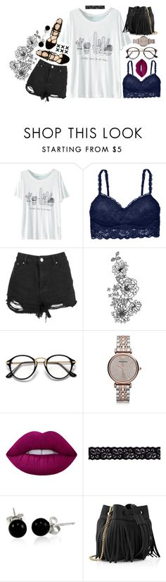 """Don't You Try And Stop Me -Abby"" by thedifferentpeoplegroup ❤ liked on Polyvore featuring WithChic, Cosabella, Boohoo, Marc Fisher, Emporio Armani, Lime Crime, Akira, Bling Jewelry and Whistles"