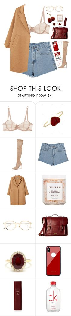 """""""Cherry"""" by mode-222 ❤ liked on Polyvore featuring Chantelle, Kendall + Kylie, MANGO, French Girl, Dr. Martens, Other, Byredo and Calvin Klein"""