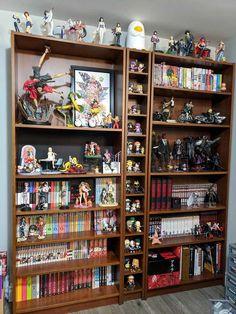 Nerd Bedroom, Cute Bedroom Decor, Dream Rooms, Dream Bedroom, Geek Room, Bookshelves In Bedroom, Otaku Room, Cute Room Ideas, Kawaii Room