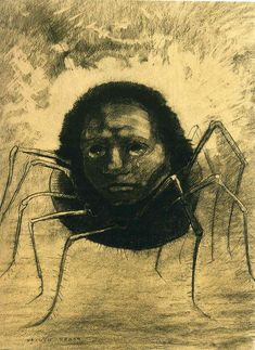 Google Image Result for http://uploads5.wikipaintings.org/images/odilon-redon/the-crying-spider-1881.jpg