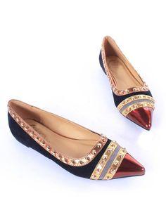 Rivets Decoration Brand Shoes Flats