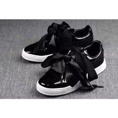 info for c1d34 66ff8 Puma Womens Basket Heart Patent Casual Shoes Black   puma