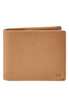 Men's Skagen 'Pueblo' Leather Traveler Wallet - Beige