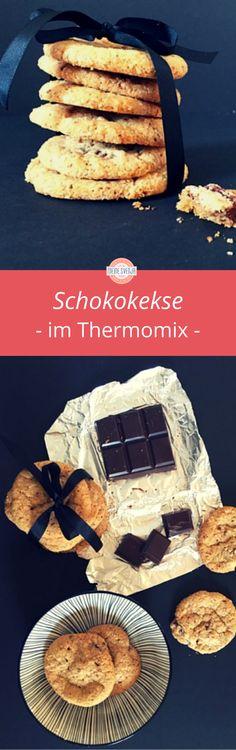 Kekse Thermomix - die guten Chocolate Chip Cookies, die immer schön knatschig bleiben. Ich liebe es, wenn Kekse so schmecken - und dann ein großes Glas kalte Milch dazu. MHHHH.