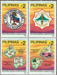 Stamp: Guerrilla Units of World War II (Philippines) Mi:PH 2574-2577