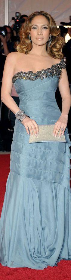 Jennifer Lopez in Blue