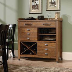 Wood Sideboard Buffet Dining Furniture Wine Rack Storage Cherry Drawers Cabinet for sale online Entry Furniture, Furniture Making, Office Furniture, Furniture Shopping, Funky Furniture, Garden Furniture, Furniture Decor, Side Board, Wine Rack Storage