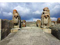 The Hittites were a Bronze Age Indo-European speaking people of Anatolia, established a kingdom centered at Hattusa in north-central Anatolia c. the 18th century BC.  http://www.turkeytraveladvisory.com/turkey_tours/details/turkey_travel_destinations/9/Hattusas/