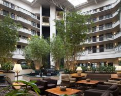 The Atrium of our All Suite Dulles Airport Hotel.