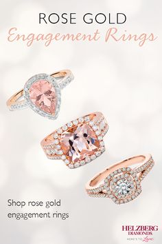 Add a subtle touch of color to your engagement ring with rose gold. Shop Helzberg's gorgeous selection of rose gold engagement rings today.