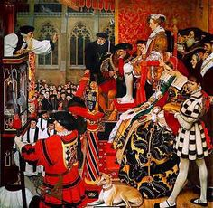 Edward VI listening to a sermon by Hugh Latimer at St. Paul's Cross, London on January 29, 1548. In 1551, Edward VI passed a law commanding everyone to walk to church on Christmas Day. The law remains on the books today.