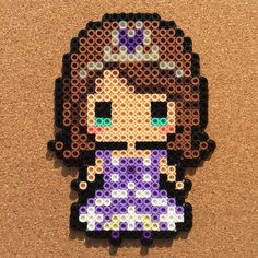 Sofia the First perler beads
