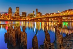 Photo Portland Downtown by Vijay Chebium on Portland, New York Skyline, Landscape, Travel, Viajes, Traveling, Tourism, Outdoor Travel