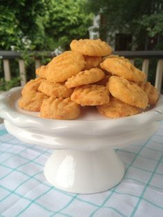 Baked cheese straws are always on the table for parties and celebrations in the South. This is my mom's recipe- one I've used for 30 years.