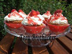Frau Brotbäcker: Erdbeer-Cupcakes