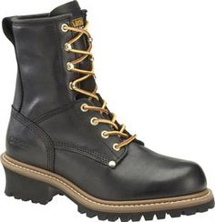 "Men's Carolina 8"" Steel Toe Logger - Black"