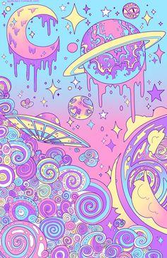 11 x 17 Pastel Galaxy Print