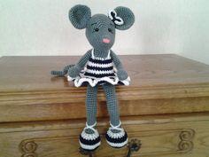 réservé souris ballerine au crochet : Accessoires de maison par stella1957