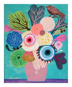 Flowers N.14 Print by @Katie Schmeltzer Schmeltzer Cartwright Garden, $15.00 #illustration #print #flowers