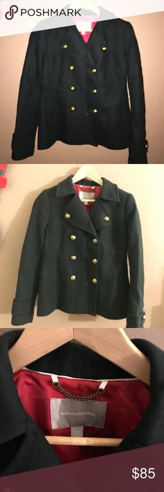 $ FINAL SALE $ {Banana Republic} 😍💄 Peacoat [s] THIS COAT IS STUNNING! Like New! Priced to sell! SOOO gorgeous. Great thick material, but soft and very well made.  -Size: s  -true to size! Banana Republic Jackets & Coats Pea Coats