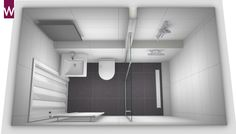 Below is a tiny washroom design that said that reasonably satisfies an easy, minimal, contemporary and also lavish interior style. Small Bathroom Layout, New Bathroom Ideas, Narrow Bathroom, Tiny Bathrooms, Basement Bathroom, Washroom Design, Bathroom Tile Designs, Modern Bathroom Design, Bathroom Design Software