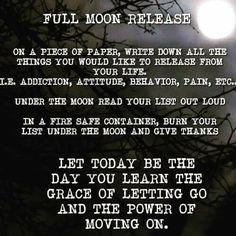Full moon ritual for healing and letting go ❤️ Full Moon Spells, Full Moon Ritual, Love Spells, Witchcraft Spells For Beginners, Healing Spells, Full Moon Love Spell, Love Chants, Witch Rituals, Letting Someone Go