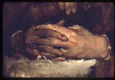 Frank Duveneck - look at strokes across hand - not lengthways