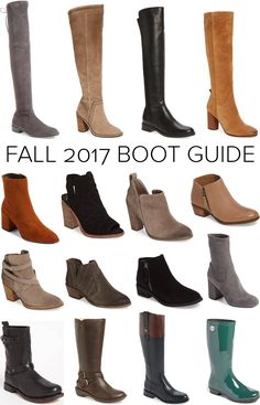 Fall 2017 Boot Guide - The styles and colors that are trending and what you need to round out your fall boot wardrobe!