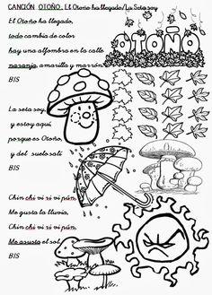 Profe Rafa de Infantil: En Otoño llegan las Setas. Este año nuestra canción y el mural serán para las setas.