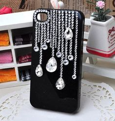 Black and bling phone case ideas for me чехол для телефона, Bling Phone Cases, Diy Phone Case, Cute Phone Cases, Iphone Cases, Whatsapp Pink, Decoden Phone Case, Cell Phone Covers, Coque Iphone, Mobile Cases