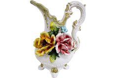 Hand Painted Plates, Italian Art, Vintage Market, Three Dimensional, Vintage Furniture, Porcelain, Container, Fancy, Vase