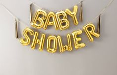 baby shower 16 inch balloon letters by bubblegum balloons | notonthehighstreet.com