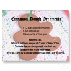 Cinnamon dough recipe - added glitter, and put them in the food dehydrator.