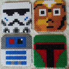 Star Wars Coasters C-3PO R2D2 Stormtrooper Boba fett by Jazandings