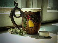 """Кружка """"Winter Carols"""" - купить или заказать в интернет-магазине на Ярмарке Мастеров - AAD5VRU. Барнаул   Кружка """"Winter Carols"""" олицетворение самой зимы,…"""