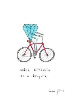 cubic zirconia on a bicycle