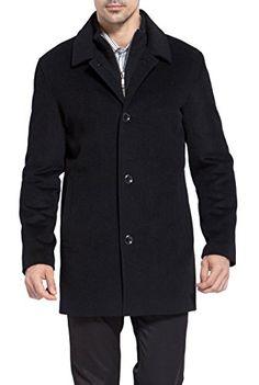 Best Price: MODERM Men's 'Justin' Cashmere Blend Car Coat – Black XL