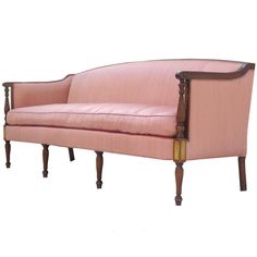 1stdibs | Elegant Vintage Hollywood Regency Sheraton Sofa Hollywood-Where Dreams Come True