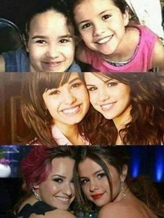 Demi Lovato and Selena Gomez (my cousin according to my dad) <-- which I'm not really sure about.. ♥ ♥