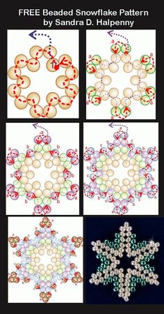 Free Snowflake Patterns Featured in Bead-Patterns.com Newsletter! by Stoeps