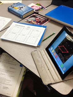 Geoboard Quadrilaterals activity from Math Stations for Middle Grades - Katie Lyon of Teaching ... the Art of Possibility shares how her students used the activity with an iPad app instead of real geoboards. No rubberbands zinging around the room! Great idea! $