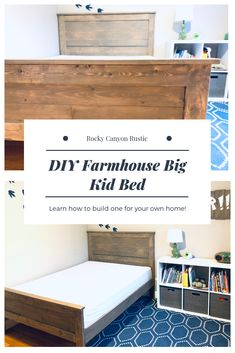 When my littlest son began consistently climbing out of his crib every night (scaring the living daylights out of me), I decided it was finally time to get him a big boy bed. | 7M Woodworking loves sharing tips for woodworking projects DIY & rustic interior design alongside wooden tiny house interior, unique handmade wooden tables, reclaimed barn beam lightning, edison bulb light fixtures, and other woodworking projects. Check out www.7mwoodworking.com (312) 545-0331