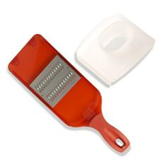 $20 Kuhn Rikon Quick Slice Julienne Mandoline with Hand Guard, Red by Kuhn Rikon, http://www.amazon.com/dp/B000THCY1W/ref=cm_sw_r_pi_dp_qr3xrb1X50RGB